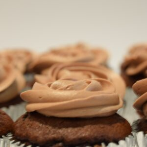 chocolate cupcake with delicious chocolate buttercream swirl