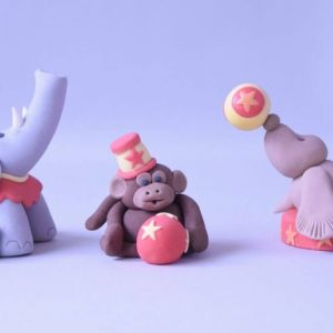 cute circus elephant monkey and seal figure cake topper class at the London cake academy