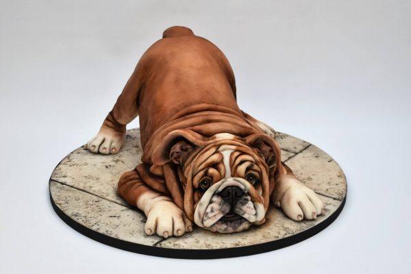 english bulldog puppy novelty cake class with Emma Jayne