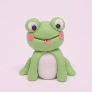 cute frog figure cake topper class at the London cake academy