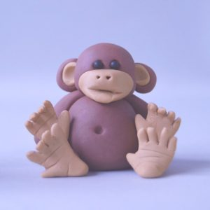 cute monkey figure cake topper class at the London cake academy