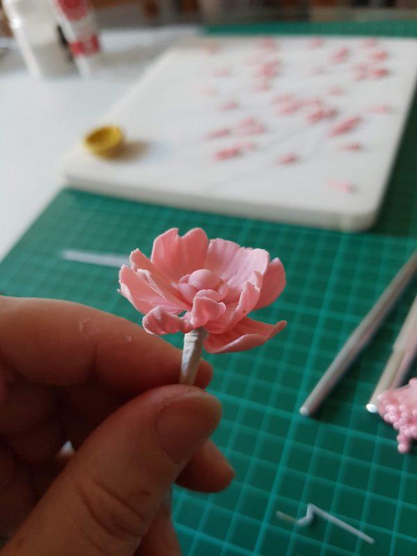 tiny sugar flowers handmade for georgia ampelakiotou's flower fairy class
