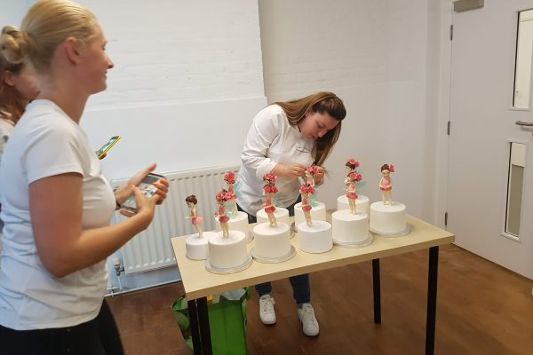 finishing touches to flower fairy class with georgia ampelakiotou