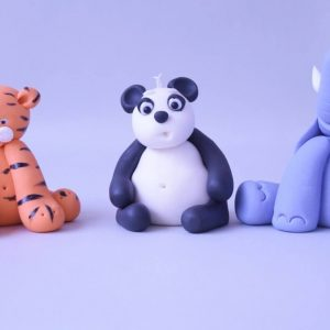 cute tiger panda and elephant figure cake topper class at the London cake academy