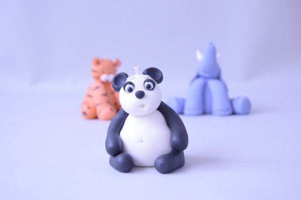 cute panda figure cake topper class at the London cake academy